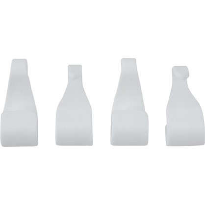 Набор крючков пластик цвет белый 4 шт. цена