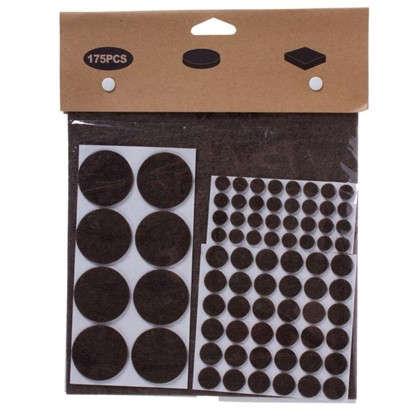 Набор накладок защитных для мебели фетр цвет темно-коричневый 175 шт. цена