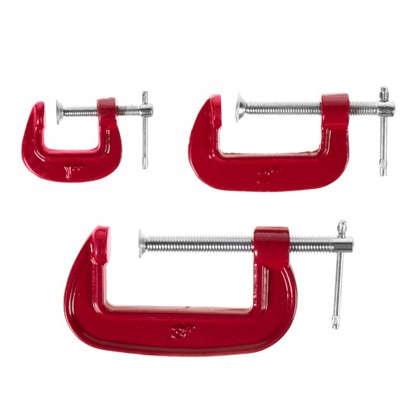 Набор струбцин G-образных Top Tools 3 шт. цена