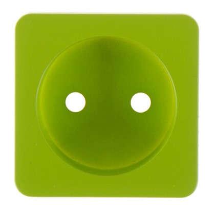 Накладка для розетки Lexman без заземления цвет зелёный цена
