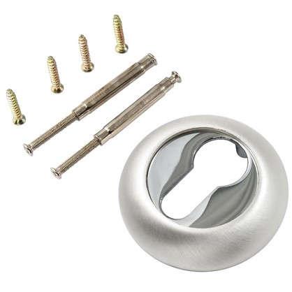 Накладка на цилиндр к ручкам BK AL 02 цвет глянцевый/матовый никель