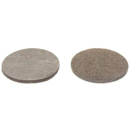 Накладки фетровые Standers 50 мм круглые войлок цвет коричневый 4 шт. цена