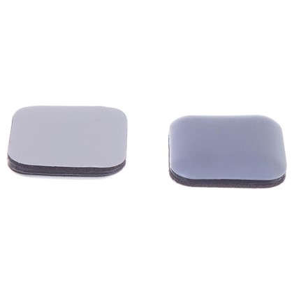 Накладки Standers PTFE 24x24 мм квадратные пластик цвет серый 8 шт. цена