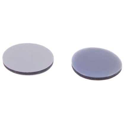 Накладки Standers PTFE 25 мм круглые пластик цвет серый 8 шт.