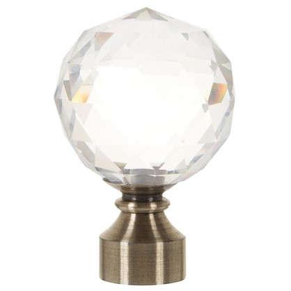 Наконечник Шар стекло 6 см цвет золото антик