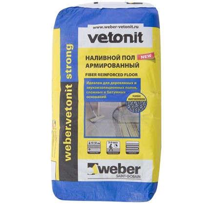 Наливной пол Weber Vetonit Strong 20 кг цена