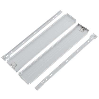 Направляющая роликовая Boyard MB08601 86x500 мм металл цвет белый цена