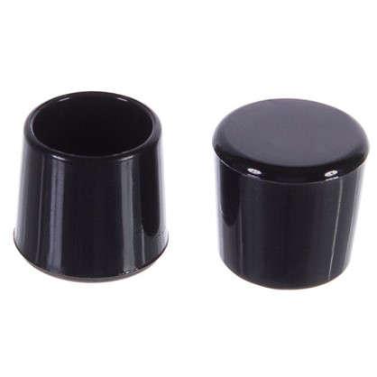 Насадки Standers 14 мм круглые пластик цвет черный  4 шт. цена
