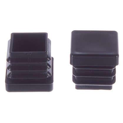 Насадки Standers 17х17 мм квадратные пластик цвет черный 4 шт. цена