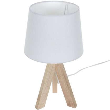Настольная лампа Belle-Ile 1xE14x40 Вт дерево/ткань цвет белый цена