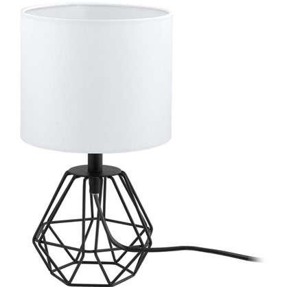 Настольная лампа Carlton2 1xE27x60 Вт цвет черный/белый
