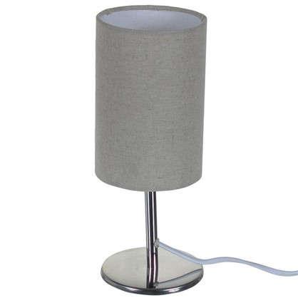 Настольная лампа Nice база 1xE14x40 Вт металл/ткань цвет хром цена