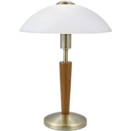 Настольная лампа Solo 1 с сенсором и диммером 1xE14x60 Вт цвет бронза цена