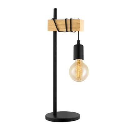 Настольная лампа Townshend 1хE27х60 Вт цвет черный/дерево цена