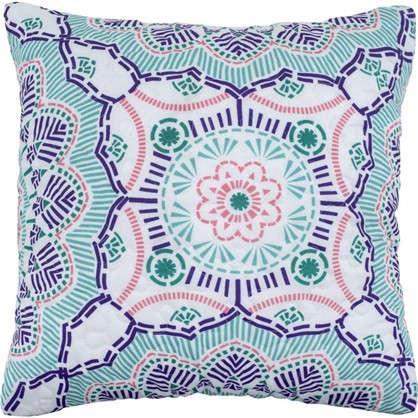 Наволочка декоративная стеганая Boho 40x40 см цвет синий цена