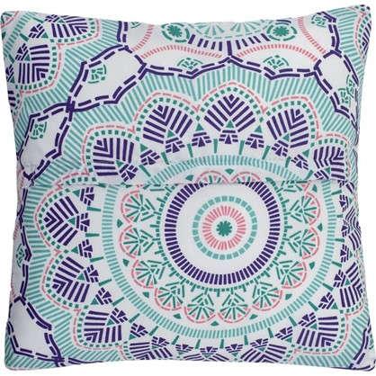 Наволочка декоративная стеганая Boho 40x40 см цвет синий