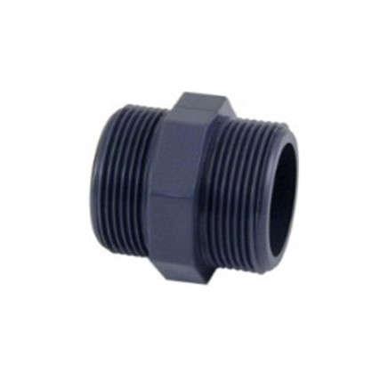 Ниппель пластиковый наружная-наружная резьба 25х25 мм
