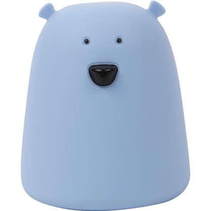 Ночник светодиодный Мишка IP44 цвет голубой цена