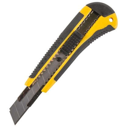 Нож 18 мм двухкомпонентная ручка 1 лезвие цена
