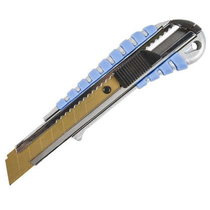 Нож 18 мм металлический корпус лезвие с титановым покрытием цена