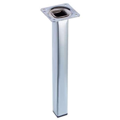 Ножка квадратная 25х25х250 мм цвет хром цена