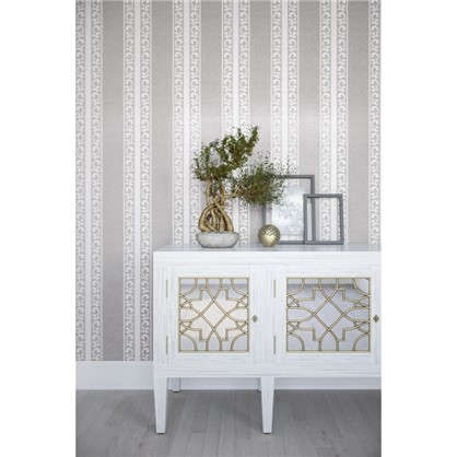 Обои флизелиновые 053х10 м полосы цвет серый PL51006-41