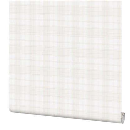 Обои Inspire Check виниловые на флизелиновой основе цвет белый 1.06x10 м цена