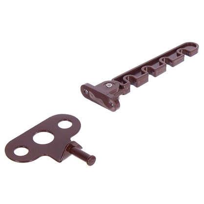 Ограничитель оконный для ПВХ окна 105 мм ABC/сталь цвет коричневый цена