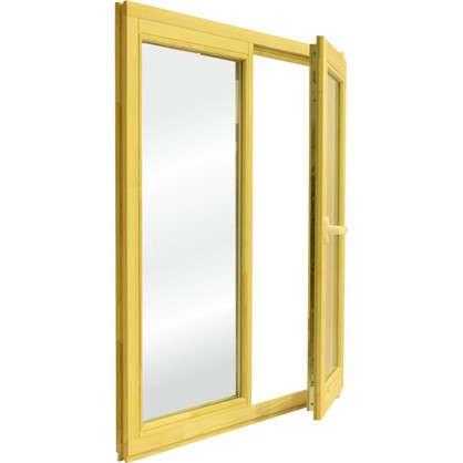 Окно деревянное 116х100 см глухое/поворотное однокамерный стеклопакет