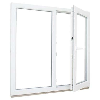 Окно ПВХ двустворчатое 116х120 см глухое/поворотное правое цена