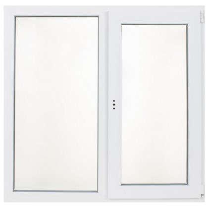 Окно ПВХ двустворчатое 120х120 см глухое/поворотно-откидное правое цена