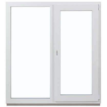 Окно ПВХ двустворчатое 130х120 см глухое/поворотное правое цена