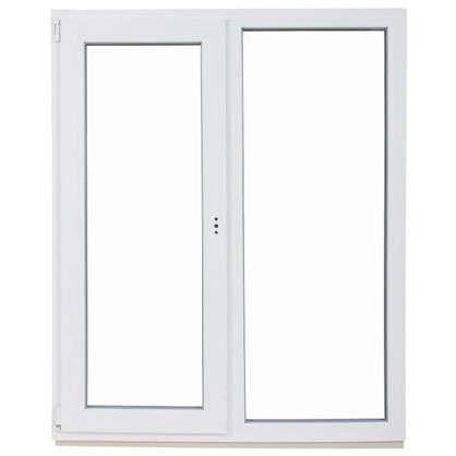 Окно ПВХ двустворчатое 144х116 см глухое/поворотно-откидное правое цена
