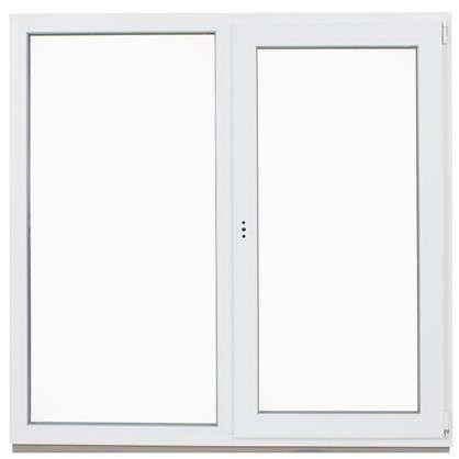 Окно ПВХ двустворчатое 144х145 см глухое/поворотно-откидное правое цена