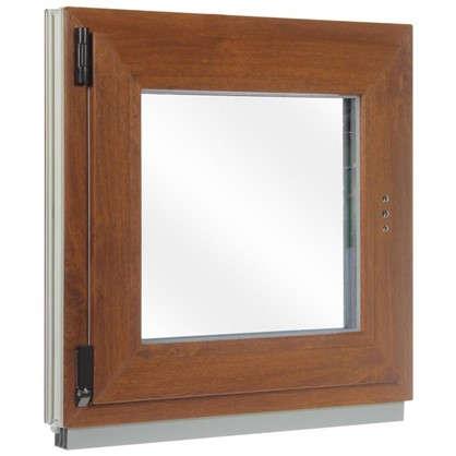 Окно ПВХ одностворчатое 60x60 см поворотно-откидное правое цвет золотой дуб цена