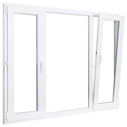 Окно ПВХ трёхстворчатое 144х175 см поворотное левое/глухое/поротно-откидное правое цена