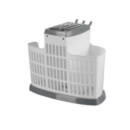 Органайзер для столовых приборов цвет белый/серый цена