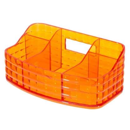 Органайзер для ванной комнаты цвет оранжевый цена