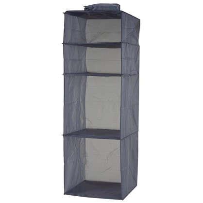 Органайзер подвесной 4 полки 33х33х103 см цвет серый