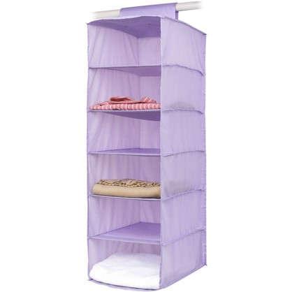 Органайзер подвесной Spaceo 6 полок 30х40х90 см цвет фиолетовый