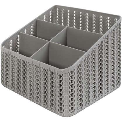 Органайзер Вязание 5 секции цвет серый цена