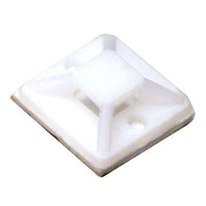 Основание для хомута Экопласт 19х19 мм цвет белый 100 шт.