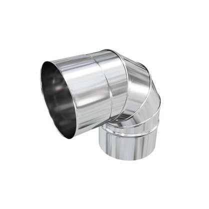 Отвод нержавеющий четыре секции 115х0.5 мм 90 г цена