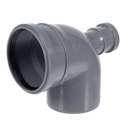 Отвод Политэк фронтальный d 110 мм L 185 мм полипропилен