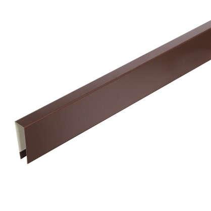 П-планка для профнастила С8 цвет коричневый цена