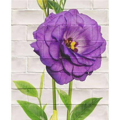 Панель ПВХ Цветы фиолетовые большие 2700х375 мм цена