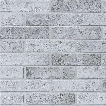 Панель ПВХ Кирпич серый 962х499 мм 0.48 м2 цена