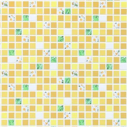 Панель ПВХ Мозаика жёлтая 960х480 мм 0.46 м2