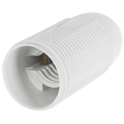 Патрон пластиковый Е14 цвет белый цена