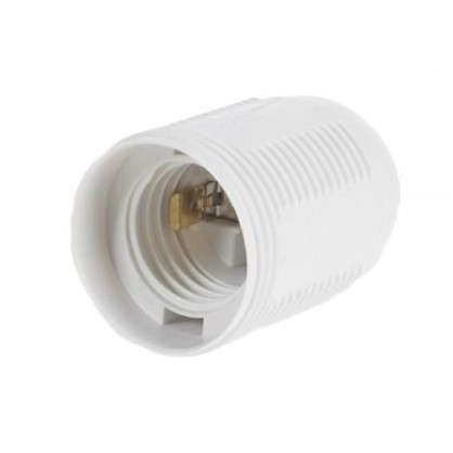 Патрон пластиковый Е27 цвет белый цена